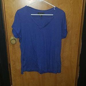 Forever 21 blue tshirt.